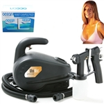 Professional Portable Sunless Spray Tan System with Solution Variety Pack