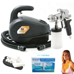 Professional Portable Sunless Tanning System with Solution Variety Pack