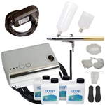 Professional Airbrush Sunless Spray Tan System with Solution Variety Pack