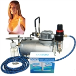 Professional Sunless Spray Tan Airbrush System with Solution Sampler Pack