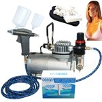 Professional Sunless Spray Tan Airbrush System with Solution Variety Pack