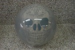 Tribal Skull Bowling Ball