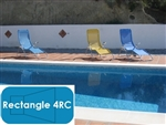 Complete 12'x24' Rectangle 4RC InGround Swimming Pool Kit with Polymer Supports