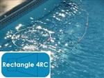Complete 12'x24' Rectangle 4RC In Ground Swimming Pool Kit with Steel Supports