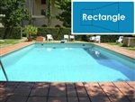 Complete 12'x24' Rectangle InGround Swimming Pool Kit with Wood Supports