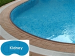 Complete 14'x28' Kidney In Ground Swimming Pool Kit with Steel Supports