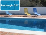 Complete 14'x28' Rectangle 2RC InGround Swimming Pool Kit with Wood Supports