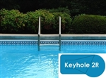 Complete 16x32 Keyhole 2R In Ground Swimming Pool Kit with Wood Supports