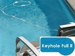 Complete 16x32 Keyhole Full R InGround Swimming Pool Kit with Steel Supports