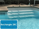 Complete 16'x32' Rectangle 2RC InGround Swimming Pool Kit with Polymer Supports