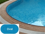 Complete 16'x33' Oval In Ground Swimming Pool Kit with Steel Supports