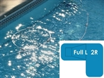 Complete 16x38x24 Full L 2R In Ground Swimming Pool Kit with Steel Supports