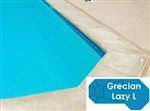 Complete 16'x42' Grecian Lazy L  In Ground Swimming Pool Kit with Wood Supports