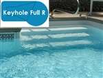 Complete 18x36 Keyhole Full R InGround Swimming Pool Kit with Wood Supports
