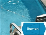 Complete 18'x38' Roman In Ground Swimming Pool Kit with Wood Supports