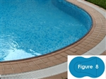 Complete 20'x40' Figure 8 InGround Swimming Pool Kit with Steel Supports