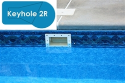 Complete 20x40 Keyhole 2R In Ground Swimming Pool Kit with Wood Supports
