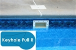 Complete 20x40 Keyhole Full R In Ground Swimming Pool Kit with Steel Supports