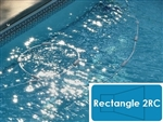 Complete 20'x40' Rectangle 2RC In Ground Swimming Pool Kit with Wood Supports
