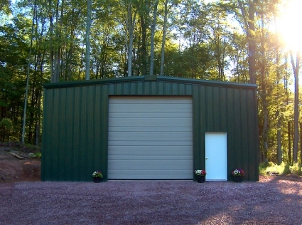 25 39 x 40 39 x 16 39 prefab metal barn garage storage building kit
