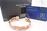 Copper magnetic Bangle Red Copper Plating - 2pk