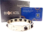 Stainless Steel with Big Germanium Stones Energy Bracelet - Single