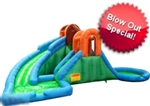 Huge 20' Inflatable Water Park with 2 Slides & 2 Pools