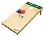 Brand New University of Miami Hurricanes Tailgate Toss XL Platinum Edition Bean Bag Game - Officially Licensed