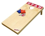 Brand New University of Utah Utes Tailgate Toss XL Platinum Edition Bean Bag Game - Officially Licensed