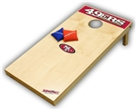 Brand New San Francisco 49ers Tailgate Toss XL Platinum Edition Bean Bag Game - Officially Licensed