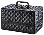 Pro Makeup Cosmetic Train Case Aluminum Diamond Print Box