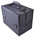 Lockable Makeup Cosmetic Aluminum Storage Case Box w Tiers