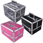 Aluminum Makeup Case Cosmetic Train Jewelry Storage Organizer