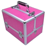 Professional Aluminum Cosmetic Makeup Case w/Lock, Keys & Strap