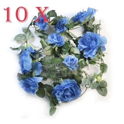 10 x royal blue rose garland silk wedding flowers arch decor mightylinksfo
