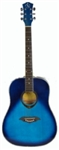 Full Size Acoustic Guitar ABS Hemming Blue