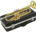 Gold Trumpet with Mouthpiece and Case