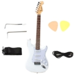 Cutaway Rosewood 39'' Inch Fingerboard Electric Guitar White