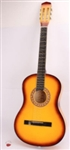 "38"" Yellow Acoustic Guitar 6 String and Pick"
