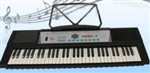 61 Key Electronic Keyboard Electric Piano Black with Microphone Music Book Stand