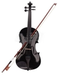 Black Acoustic Violin with Case Bow and Rosin