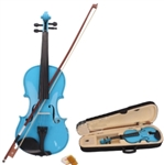 Full Size Acoustic Violin Blue with Case Rosin and Bow