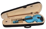 Light Blue 4/4 Acoustic Violin Case Bow and Rosin