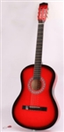 "38"" Red Acoustic Guitar 6 String and Pick"