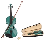 Green 4/4 Acoustic Violin Case Bow and Rosin