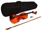 4/4 Full Size Acoustic Violin Spruce Natural Color Student Instrument
