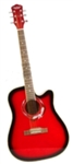 Cutaway Acoustic Guitar 41 Inch Red