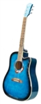 Cutaway Acoustic Guitar 41 Inch Blue