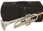 Bb Nickelplated Trumpet Silver with Mouthpiece and Case