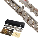 Silver Plated Brass Closed Hole 16 Hole C Tone Flute with Case